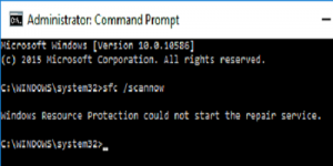 How to solve the 'windows resource protection could not start the repair service'  error?
